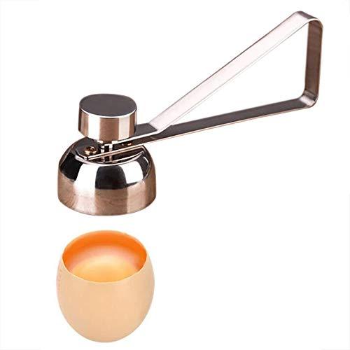 SameTech Eggshell Topper Cutter Remover, Stainless Steel Egg Shell Topper Cracker Opener Separator for Removing Raw, Soft or Hard Boiled Eggs