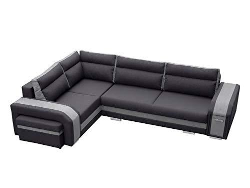 Mirjan24 Ecksofa Assan, Eckcouch mit Bettkasten und Schlaffunktion, Couch Couchgarnitur, Design Schlafsofa, Polsterecke (Ecksofa Links, Inari 96 + Inari 91)