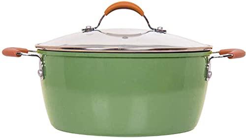 Olla para el hogar, Utensilios de Cocina Sopa de Sopa Casserole de mármol Non-Raked Casserole Doble Oree Pot, Stew Pot Home Stat Pott, Utensilios de Cocina Grande Sirviendo para Toda la Familia