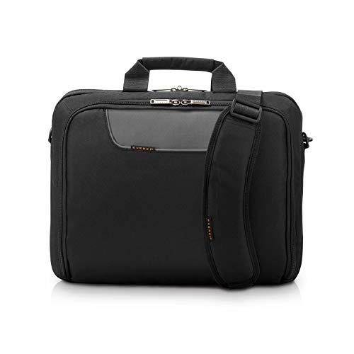 Everki Advance – Laptoptasche für Notebooks bis 17,3 Zoll (43,9 cm) mit Zubehör-Fach, kontrastreichem Innenfutter & Trolley-Lasche, Schwarz