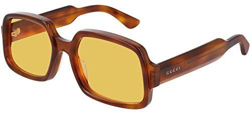 Gucci Gafas de Sol GG0704S Havana/Yellow 56/20/145 hombre