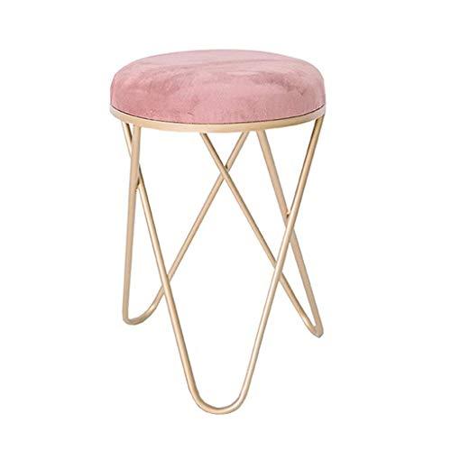 H-ei Nordic Modern Bedroom Princess Hocker Schminktisch Hocker Make-up Stuhl Ins Girl Makeup Hocker (Color : Pink)