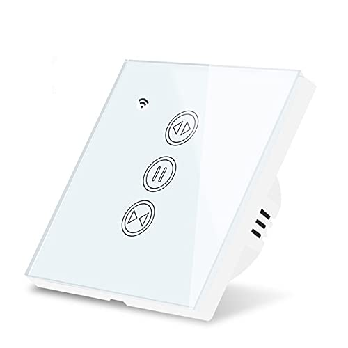 LOKOER Interruptor de cortina WiFi Persianas remotas de voz Engine Roller App Temporizador Smart Home Life Shutter para Alexa Echo