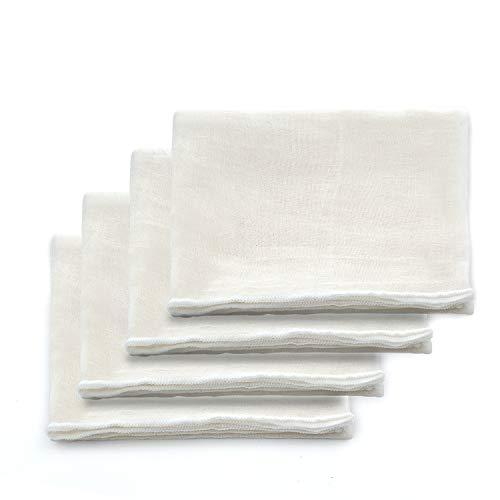 Vordas Welecoco Tela Colador, 4 pcs Cheesecloth Reutilizable Estopilla Telas Filtrantes de...