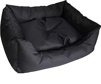 LazyBones Canapé-lit résistant à l'eau pour Chien, 66 cm de Long x 58 cm de Large x 20 cm de Haut, Noir