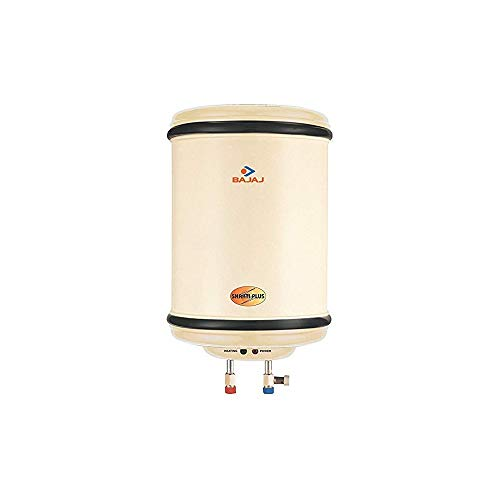 Bajaj Shakti Plus Storage 6-Litre Vertical Water Heater (Ivory)