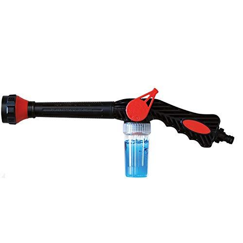 Zarpax F1 Aquablaster – Adjustable Pressure Hose Gun w/8 Way Spray Setting Nozzle, Foam Jet Throttle & Soap Dispenser - Great for Watering Plants, Lawn/Garden, Patio, Car Wash, Cleaning, Showering Pet