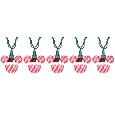 Gemmy Mickey Mouse Ears Cool White LED Lights - 25 Count 24-ft - Indoor/Outdoor Holiday Decoration