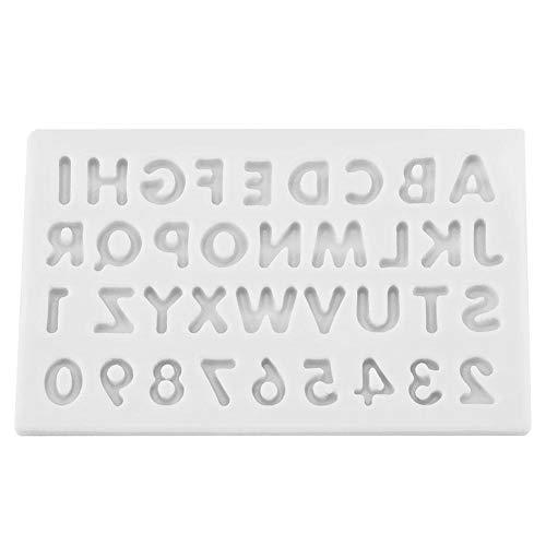 Letters vorm siliconen taart Fondant chocolade vormen decoreren gereedschap 3D zeep chocolade vormen DIY gebak nummer en brief vorm siliconen mal Grijs 11.00*7.50*1.80