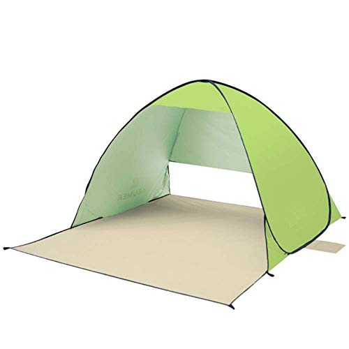 WY-YAN Family Tent Camping Tent 2-3 Person Beach Tent Super Beach Umbrella Outdoor Sun Shelter Cabana Automatic Pop Up Outdoor Tent (Color : Green)