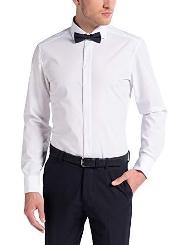 eterna Herren Hemd Gala Slim Fit Kent Manschetten-Hemd Weiß, Größe:43, Farbe:00 Weiss