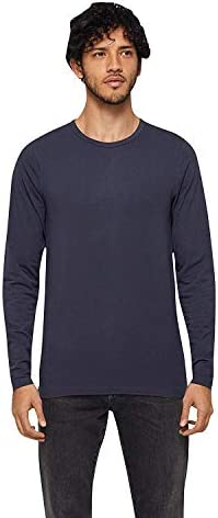 JACK & JONES Camiseta Manga Larga Hombre Básica O-Neck