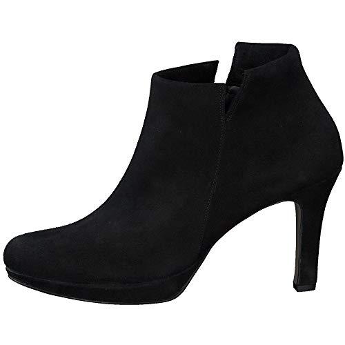 Paul Green Damen Super Soft Stiefelette, Frauen Ankle Boots, Stiefel halbstiefel Bootie knöchelhoch reißverschluss weiblich,Schwarz,3.5 UK / 36 EU
