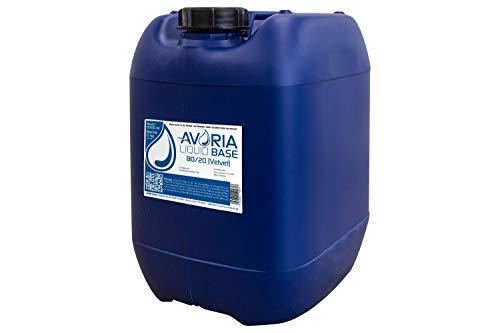 Avoria Basisliquid Velvet 80/20 Nikotinfrei 0 mg/ml, 5 l