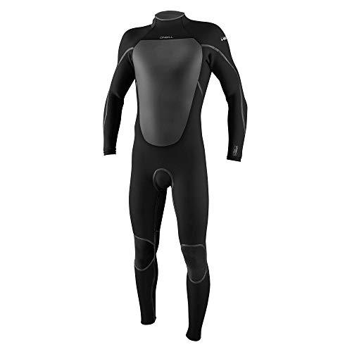 O Neill Men s Heat 4 3mm Back Zip Full Wetsuit, Black Black, L