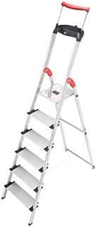 Hailo 8030-627 XXR Comfortline 6FT Folding Lightweight Aluminum Platform Step Ladder, Worktray, Silver