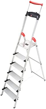 Hailo 8030-627 XXR Comfortline 6FT Folding Lightweight Aluminum Platform Step Ladder, Worktray, Silver