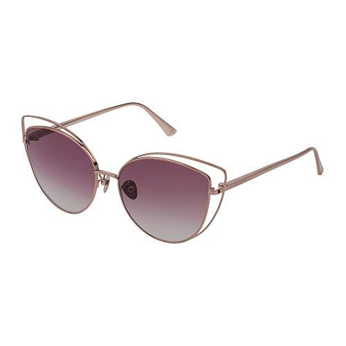 Nina Ricci - Gafas de sol SNR221 0A39 57-16-140 para mujer, oro rojo brillante total, lentes violetas degradadas