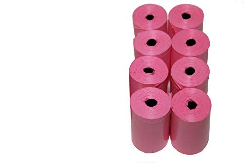 Originalpetbags Easy Open & Strong Leak-Proof Poop Bags Dog Waste Bags 13.25 x 9' Made in USA .Bags are easier to tie than standard 12 inch bags (Pink)