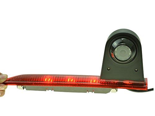 YMPA Rückfahrkamera kompatibel mit Transporter Ford Transit Custom ab Baujahr BJ 05 2015 IR Nachtsicht 10 Meter Kabel NTSC Monitor Rückfahrsystem