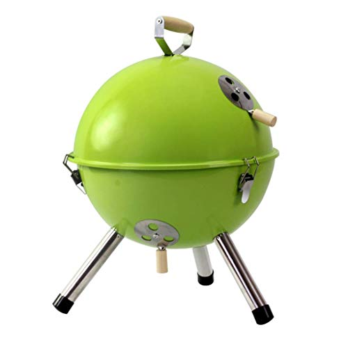 Familientreffen/Barbecue DeskOutdoor Barbecue Tragbarer Holzkohlegrilgrill, Miniholzkohle-Grill mit Deckel Stabiles Stativ for Parteien Picknick Camping Grill DYWFN (Color : A)