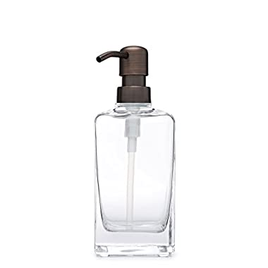 Casa Glass Soap Dispenser with Metal Pump (Farmhouse Bronze)