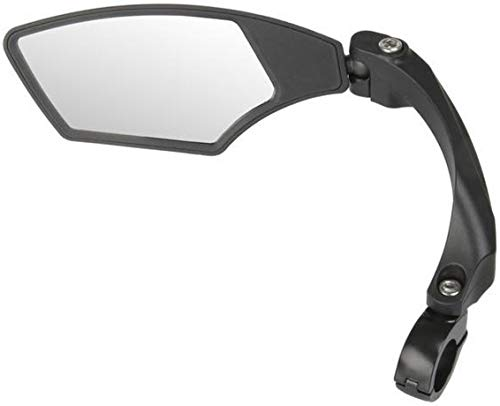 P4B | 3D Spiegel für Ihre Fahrrad | Für 22,2 mm Lenkerdurchmesser | 3D = 3-dimensional verstellbar (Links)