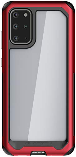 Ghostek Atomic Slim Galaxy S20 Plus Case with Super Space Metal S20+ 5G Phone Case Shockproof Military Grade Aluminum Bumper Heavy Duty Protection Wireless Charging Compatible 2020 (6.7 Inch) - (Red)