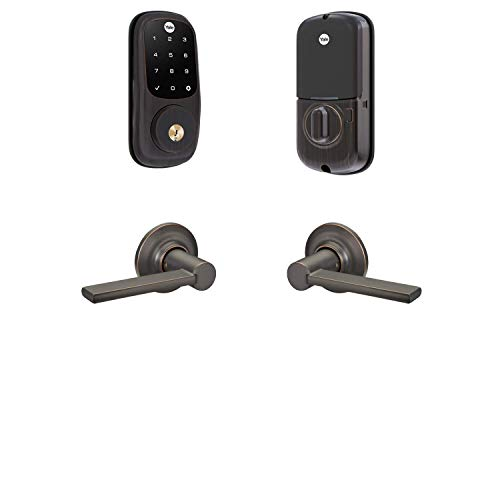Yale Assure Lock Z-Wave Touchscreen with Valdosta Lever - Works with Ring Alarm, Smartthings, and Wink