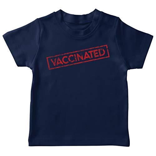 lepni.me Camiseta para Niños Las Vacunas Salvan Vidas en 2021 Concienciación Equipo (3-4 Years Azul Oscuro Multicolor)