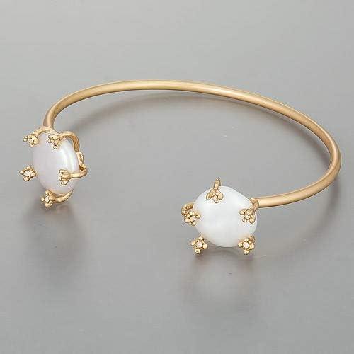 Ð¡harm - Gold Color Finish Pearl Bohemian Style Design Open Cu