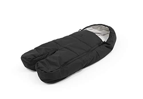 Stokke Xplory X Fußsack für Kinderwagen - Sonalanfutter und Fleece für Wärme und Komfort - Farbe: Rich Black
