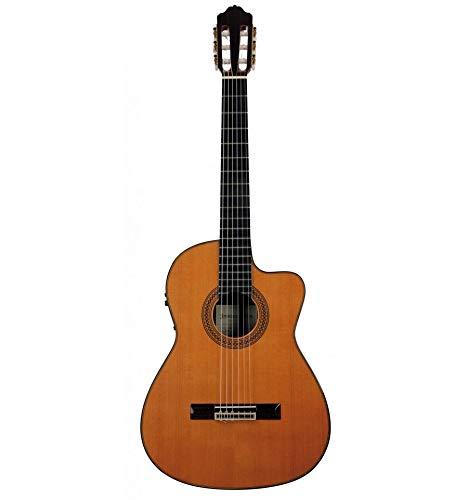 Esteve 15450CWE - Guitarra electroclásica 9C/B mesa cedro macizo, natural brillante