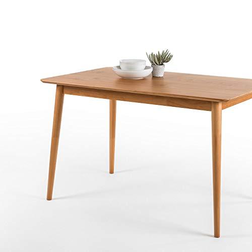 ZINUS Jen Mesa de comedor de madera de 120cm | Mesa de cocina de madera maciza | Montaje sencillo, natural