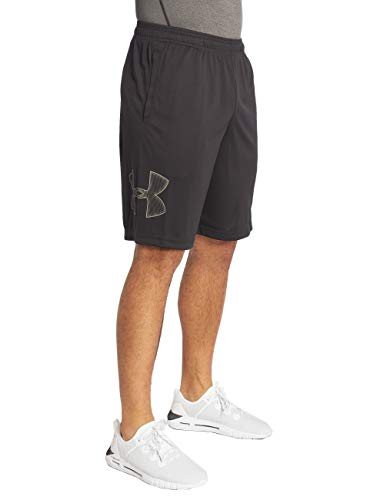 Under Armour mens Tech Graphic Shorts , Black (001)/Graphite , X-Large