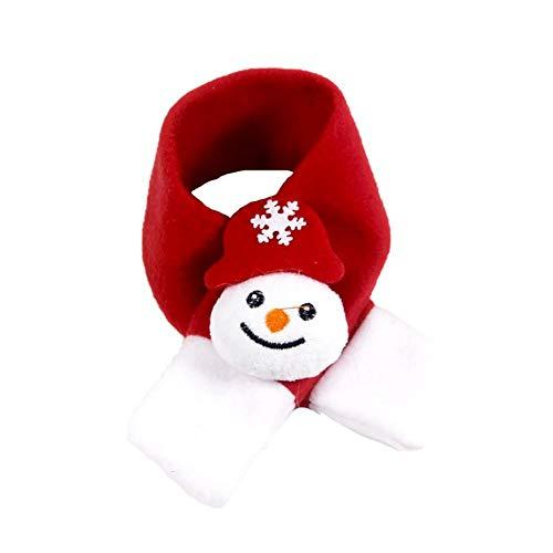 Nikgic. Weihnachten Haustier Schal Schneemann Schal Haustier-Kleidung Hundeschal Katzenschal Roter Schal Mittlere Größe 46 * 5 cm
