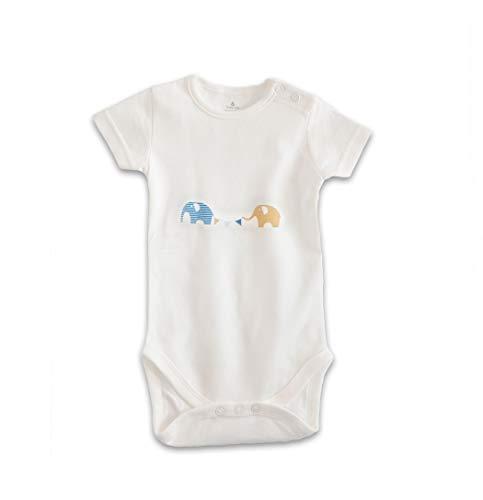 Sämann - Body de manga corta para bebé (4 unidades, algodón, unisex, 0-6 meses, primavera, verano, invierno Blanco 0-6 Meses