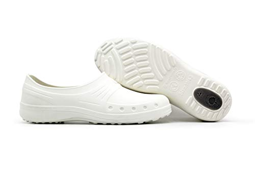 Nurse Nursing Shoes for Women Men   Pro Medical Chef Work Shoes   Waterproof Slip-Resistant Lightweight White