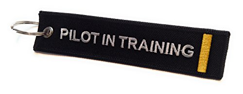 Pilot in Training Keychain | Luggage Tag | 1 Gold Stripes | aviamart