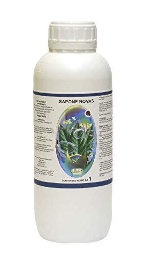 NOVAS ITALIA Sapone Molle di potassio1 Lt pulisce la vegetazione con Azione immediata ed Efficace da Insetti parassiti melata e fumaggine Professionale Alta viscosità