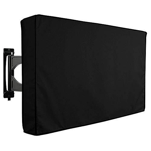 Demarkt Outdoor Wetterfest TV Displayschutzfolie Displayschutz für Fernseher TV Abdeckung für den Außenbereich Fernsehen Hülle 22-24 Inch Schwarz