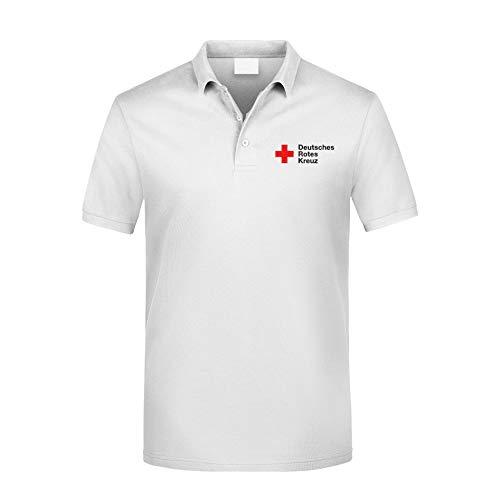 MT83 DRK Deutsches Rotes Kreuz Poloshirt alle gestickten Schriften (S)
