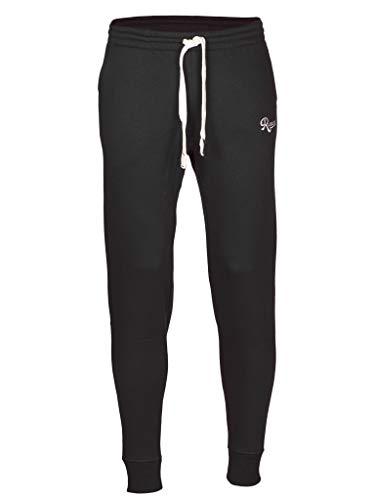 Rucanor Senna - Pantaloni da jogging da uomo, slim fit, pantaloni da jogging, Urban Classic, per lo sport e il tempo libero, Uomo, Nero , M