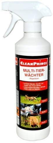 CleanPrince Anti Marder Spray 500 ml Marderschreck Marderex Ex Anti Kabelbiss Marderschaden Marderspray Hunde Katzen Hund Katze Marderstopp 0,5 Liter Multi-Tier-Wächter