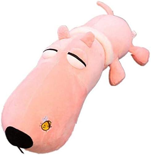 ¡No dudes! ¡Compra ahora! NOWPST Selle La Almohada De De De Felpa Suave Lindo Animal De Peluche De Juguete De Regalo para Niños De Longitud De 65cm De Perro  envío gratis