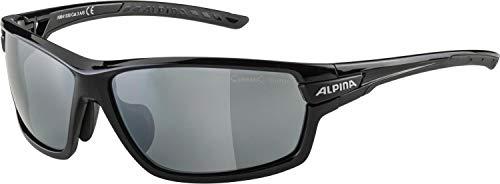 ALPINA Unisex - Erwachsene, TRI-SCRAY 2.0 Sportbrille, black gloss, One size