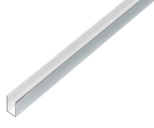 GAH-Alberts 488482 U-Profil | Aluminium, chromdesign | 1000 x 10 x 15 mm