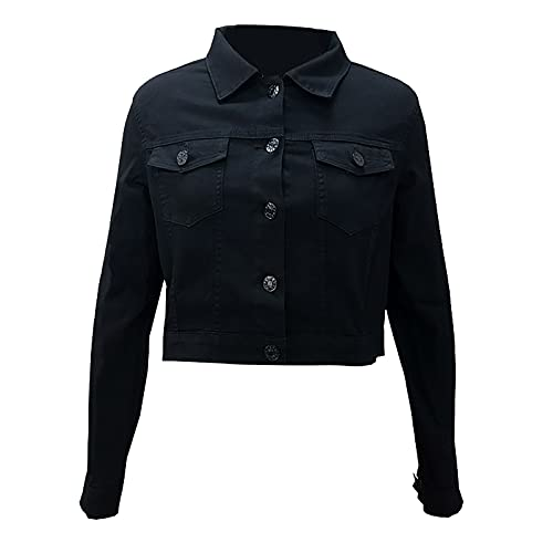 Eaylis Damen Langarm Anzug Strickjacke Jacke Einfarbig Mantel Jumper Slim Coat, Sakko Freizeit Button Kurzarm Normallacks Revers Slim Fit Coat Trendigen Outerwear