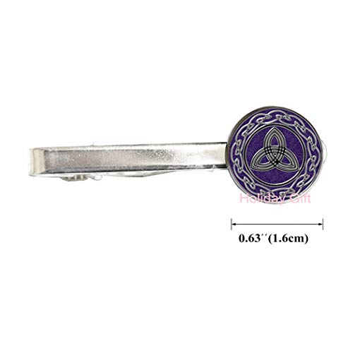 Holiday gift Celtic Knot Tie Clip Celtic Dragon Tie Clip Trinity Tie Pin Triquetra Rune Tie Pin Occult Jewelry,H210 (S1)