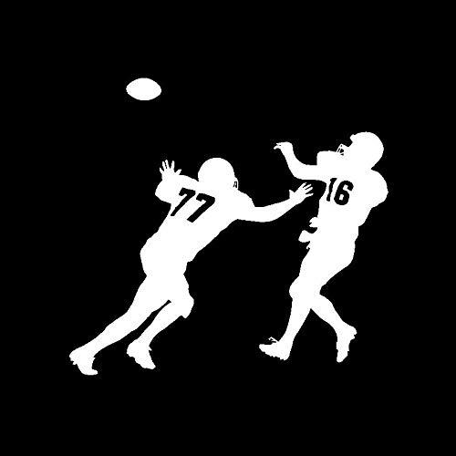 chuyue 16CM * 15CM Lustiger Aufkleber Vinyl Autoaufkleber American Football Players Spiel C3-1670-Silber